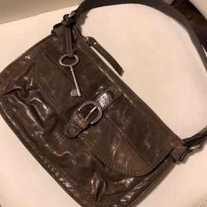 Fossil leather satchel distressed bag